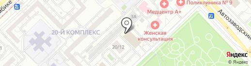 Магазин швейной фурнитуры на карте Набережных Челнов