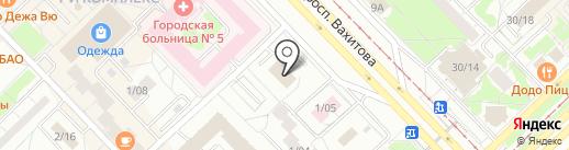 Ленин на карте Набережных Челнов