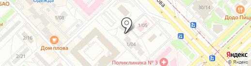 Эргосистема на карте Набережных Челнов