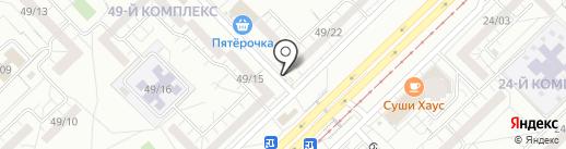 Киоск по продаже овощей и фруктов на карте Набережных Челнов