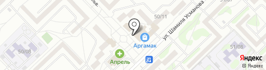 Туган Як на карте Набережных Челнов