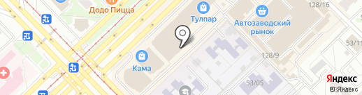 Магазин мужских курток на карте Набережных Челнов