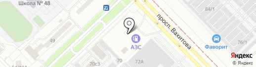 Сеть шиномонтажных мастерских на карте Набережных Челнов