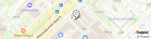 Золотой карась на карте Набережных Челнов