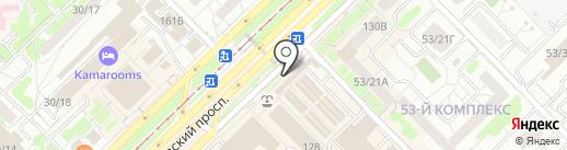 Кукморские валенки на карте Набережных Челнов