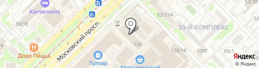 Магазин нижнего белья на карте Набережных Челнов