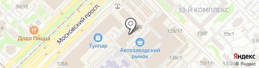Вплатье на карте Набережных Челнов