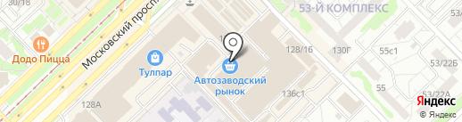 Индюшкин на карте Набережных Челнов