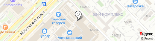 У Аси на карте Набережных Челнов