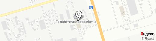 Татнефтегазпереработка на карте Альметьевска
