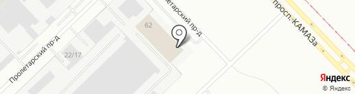 Элания на карте Набережных Челнов