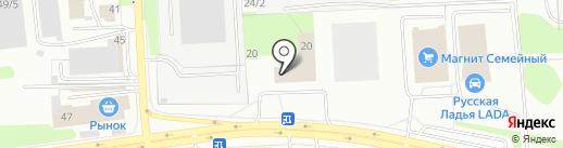 Магазин автоэмалей на карте Ижевска