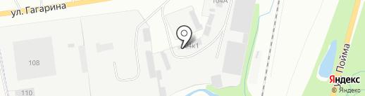 Строительное Управление подрядных работ, ДОАО Спецгазавтотранс на карте Ижевска
