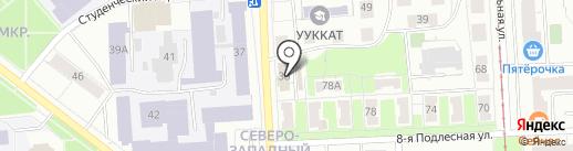 Библиотека им. В.М. Азина на карте Ижевска