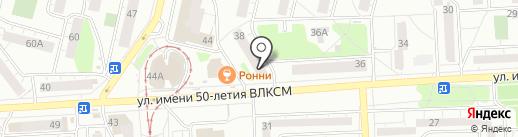 Сактон-сток на карте Ижевска