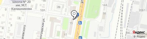 Конфетки-бараночки на карте Ижевска