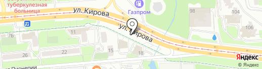 Комплект на карте Ижевска