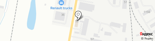 Лента на карте Ижевска