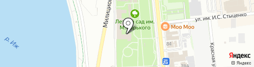 Музей Ижевска на карте Ижевска