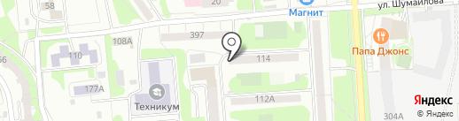 Адвокатский кабинет Глазова А.В. на карте Ижевска