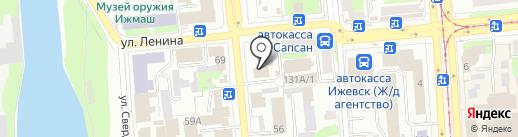 Банкомат, Банк Финансовая корпорация Открытие, ПАО на карте Ижевска