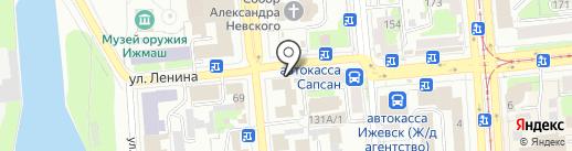Банкомат, АКБ Авангард, ПАО на карте Ижевска