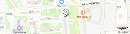 Обновка на карте Ижевска