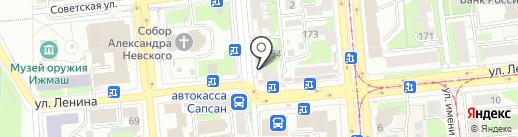 Интерстройсервис на карте Ижевска