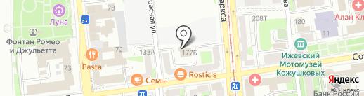 Визави-Мебель на карте Ижевска