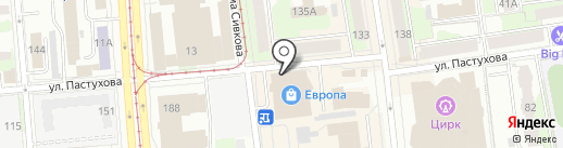 Европа на карте Ижевска