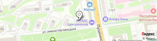 Гранд-Смета Ижевск на карте Ижевска