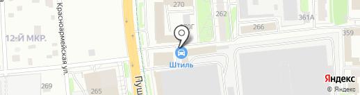 Штиль на карте Ижевска