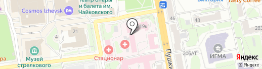 Городская клиническая больница №2 на карте Ижевска
