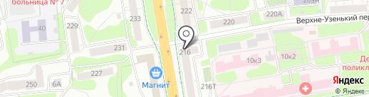 Лифт на карте Ижевска