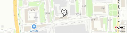 Теплосфера на карте Ижевска