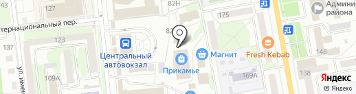 Удачный выбор на карте Ижевска