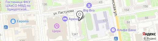 Леналь на карте Ижевска