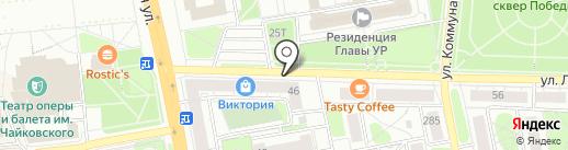 Ижвиза на карте Ижевска