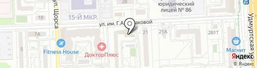 Устиновская на карте Ижевска