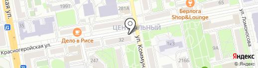 Косой переулок на карте Ижевска