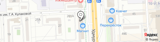 Банкомат, АК Барс банк, ПАО на карте Ижевска
