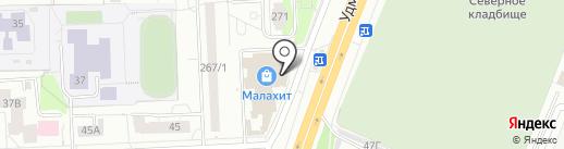 Пенная бочка на карте Ижевска