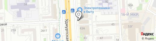 Ирис на карте Ижевска