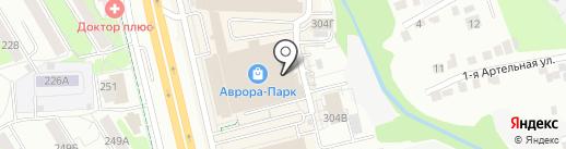 Гранта на карте Ижевска