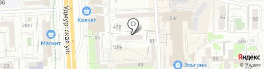 Тетерин М.В. на карте Ижевска