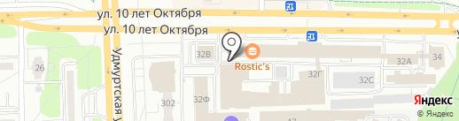 Банкомат, Всероссийский банк развития регионов на карте Ижевска