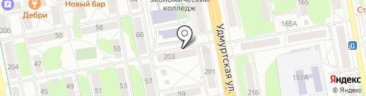 Шубин В.А. на карте Ижевска
