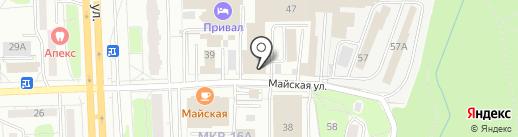 Швабе-Пермь на карте Ижевска