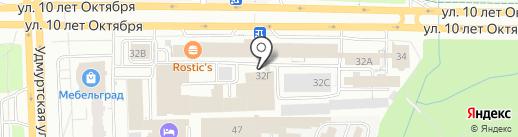 Логрус на карте Ижевска