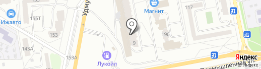 Леко на карте Ижевска